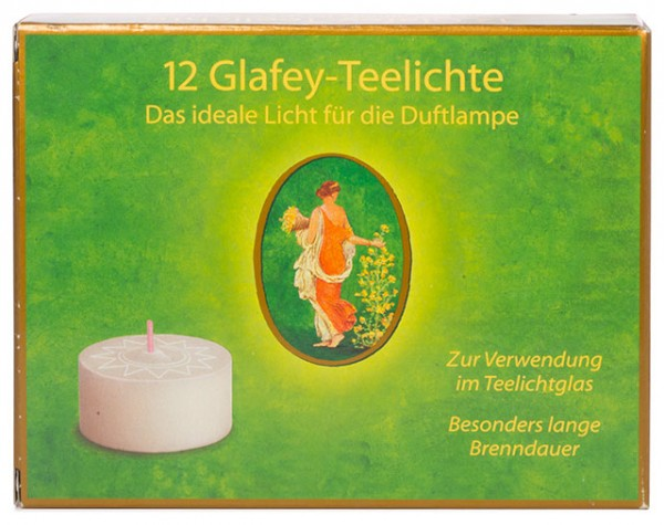 Glafey-Teelichter 12 Stück