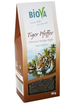 Tigerpfeffer - schwarzer Malabar Pfeffer